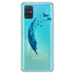 For Galaxy A71 Painted TPU Protective Case(Feather)