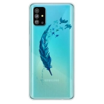 For Galaxy S20+ Painted TPU Protective Case(Feather)