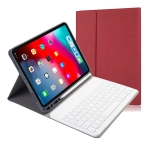 RK11 Cloth Texture Detachable Magnetic Bluetooth Keyboard Horizontal Flip Leather Case for iPad Pro 11 2020 / 2018 with Holder & Pen Slot(Red)