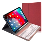 RK11A Backlight TPU Multi Color Light Bluetooth Keyboard Horizontal Flip Leather Case for iPad Pro 11 2020 / 2018 with Holder & Pen Slot(Red)