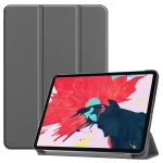 For iPad Pro 11 inch 2020 Custer Pattern Smart Tablet Holster with Sleep Function & Tri-Fold Bracket & Pen Slot(Gray)