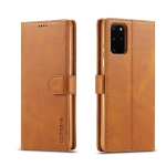 For Galaxy S20+ LC.IMEEKE Calf Texture Horizontal Flip Leather Case, with Holder & Card Slots & Wallet & Photo Frame(Brown)