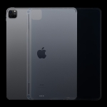 For iPad Pro 12.9 inch 2020 0.75mm Transparent TPU Protective Case with Pen Slot