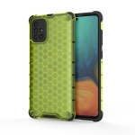 For Calaxy A71 PC + TPU Honeycomb Drop Protection Case(Green)