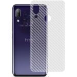 For HTC U11 Plus PVC Carbon Fiber Non-Slip Feel Back Film(White)