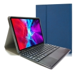 RK11C Detachable Touch Bluetooth Keyboard TPU Horizontal Flip Leather Case for iPad Pro 11 2020 / 2018 with Holder & Pen Slot(Blue)