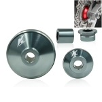 4 in 1 Motorcycle Modification Accessories Aluminum Alloy Hub Cove Set(Silver Grey)