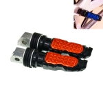 Universal Motor Bike Footpegs Foot Rests Rear Pedals Set Motorcycle Modification Accessories(Orange)