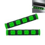 2 PCS Motorcycle Modification Accessories PVC Horn ShapeHand Grip Cover Handlebar Set(Green)