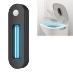 USB Charged Portable Toilet UV LED Light Sterilizer Disinfection Stick Lamp (Black)