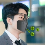 Face-Shielding Protective Face Mask Anti-Fog Anti-Splash Anti-virus Dustproof Isolating Face Shield(Black)