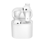 M6 Bluetooth 5.0 Business Style Binaural Wireless Bluetooth Earphone with Charging Case (White)