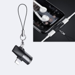 TOTUDESIGN EAUC-22 Revial Series 8 Pin Male to 8 Pin + 8 Pin Female 2 in 1 Mini Portable Audio & Charging Adapter