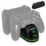 DOBE TP4-1781 Wireless Controller Dual Charging Dock LED Charger Handle Charger for  PS4 / Slim / Pro (Black)