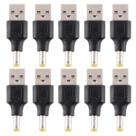 10 PCS 4.8 x 1.7mm Male to USB 2.0 Male DC Power Plug Connector