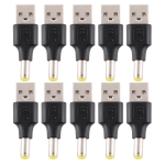 10 PCS 5.5 x 1.7mm Male to USB 2.0 Male DC Power Plug Connector