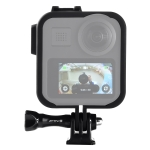 PULUZ ABS Plastic Shockproof Side Frame Mount Protective Case with Base & Long Screw for GoPro Max(Black)