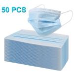 50 PCS Disposable Multi-layered Protection Breathable Earloop Antiviral Face Mask