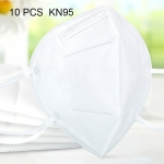 10 PCS KN95 Foldable Earloop Breathable Respirator Dustproof Protection Antiviral Anti-fog Face Mask(White)