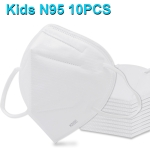 10 PCS CE Certified Kids KN95 n95 Breathable Respirator Dustproof Protection Antiviral Anti-fog Face Mask for Kids Children