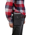 Double Case Multi-functional Universal Mobile Phone Waist Bag For 6.5 Inch or Below Smartphones (Black)