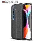 For Xiaomi Mi 10 / 10 Pro Litchi Texture TPU Shockproof Case(Black)