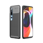 For Xiaomi Mi 10 / 10 Pro Carbon Fiber Texture Shockproof TPU Case(Black)