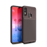 For Galaxy A70e Carbon Fiber Texture Shockproof TPU Case(Brown)