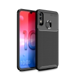 For Galaxy M31 Carbon Fiber Texture Shockproof TPU Case(Black)