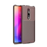 For OnePlus 8 Carbon Fiber Texture Shockproof TPU Case(Brown)