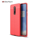 For OnePlus 8 Litchi Texture TPU Shockproof Case(Red)