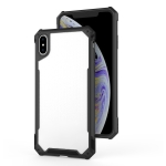 For iPhone X & XS Transparent PC + TPU Full Coverage Shockproof Protective Case(Black)