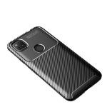 For Goolge Pixel 4a Beetle Series Carbon Fiber Texture Shockproof TPU Case(Black)