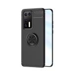 For Huawei P40 Metal Ring Holder 360 Degree Rotating TPU Case(Black+Black)