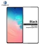 For Galaxy A91 / S10 Lite PINWUYO 9H 2.5D Full Screen Tempered Glass Film(Black)