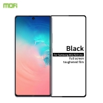 For Galaxy A91 / S10 Lite MOFI 9H 2.5D Full Screen Tempered Glass Film(Black)