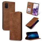 For Galaxy S20 Retro Skin Feel Business Magnetic Horizontal Flip Leather Case(Brown)