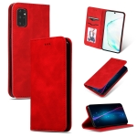 For Galaxy S20 Plus Retro Skin Feel Business Magnetic Horizontal Flip Leather Case(Red)