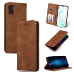 For Galaxy S20 Plus Retro Skin Feel Business Magnetic Horizontal Flip Leather Case(Brown)