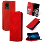 For Galaxy S20 Ultra Retro Skin Feel Business Magnetic Horizontal Flip Leather Case(Red)