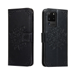 For Galaxy S20 Ultra Embossed Kaleidoscope Flower Horizontal Flip Leather Case with Holder & Card Slots & Wallet(Black)