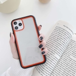 For iPhone 11 Pro Max Rainbow Skin Feeling TPU + PC Protective Case(Black+Red)