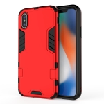 For iPhone XR 3 in 1 Full Coverage Shockproof PC + TPU Case(Red)