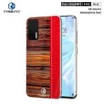 For Huawei P40 PINWUYO Pindun Series Slim 3D Flashing All-inclusive PC Case(Red)