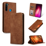 For Xiaomi Redmi Note 8T Retro Skin Feel Business Magnetic Horizontal Flip Leather Case(Brown)