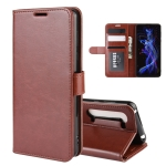 For Sharp Aquos R5G R64 Texture Single Horizontal Flip Protective Case with Holder & Card Slots & Wallet& Photo Frame(Brown)