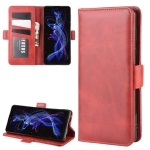 For Sharp Aquos R5G Dual-side Magnetic Buckle Horizontal Flip Leather Case with Holder & Card Slots & Wallet(Red)