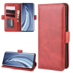 For Xiaomi Mi 10 Dual-side Magnetic Buckle Horizontal Flip Leather Case with Holder & Card Slots & Wallet(Red)