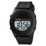 Skmei 1592 Outdoor Sports Solar Energy Electronic Watch Multi Function Environmental Protection Auxiliary Power Supply Student Watch(Black)