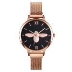 Skmei 9212 Fashion Lady Quartz Watch Student Female Temperament Waterproof Magnetic Suction Net Belt Watch(Black)